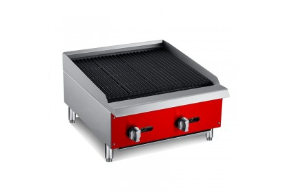 NEWWAY Counter Top Gas Char-Rock broiler - NWCB