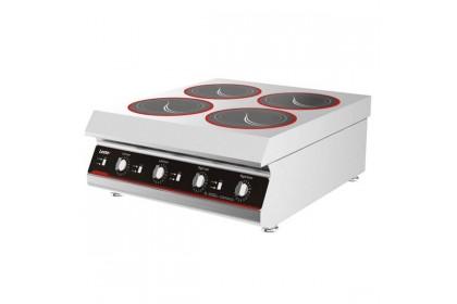 LESTOV Commercial Tabletop Induction Hob with 4 Burner Cooker - LTTBZ300IV