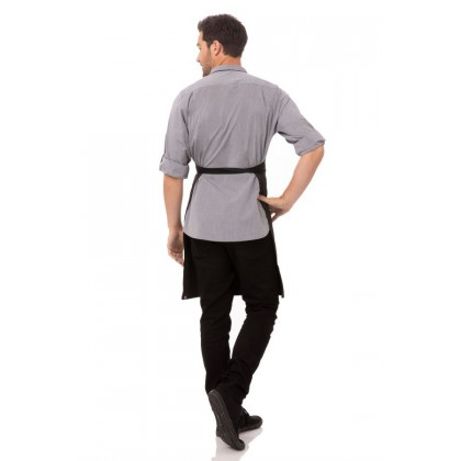 BUTCHER APRON WITH CONTRASTING TIES - AB012-PNS-0