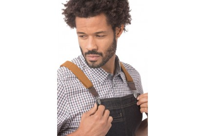 BERKELEY BIB APRON - BLACK DENIM - ABS01-BLK-0