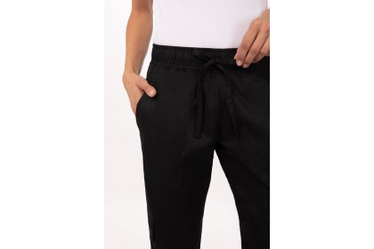WOMENS CHEF PANTS - BLACK - WBLK-BLK